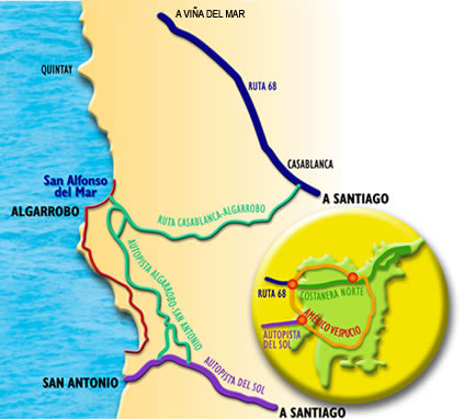 Map of San Alfonso Resort